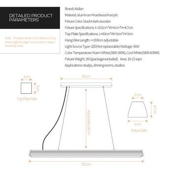 Kitchen Bar Lights | Aisilan Nordic Pendant Light Dinning Table Light Kitchen Bar LED Morden Simple Creative Office Resturant Lighting