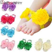 Balleenshiy 1pc Headband Baby Girls Barefoot Sandals Hair Foot Accessories Chiffon Elastic Fashion Decoration Kids Gift