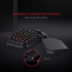 Image 5 - ريدراجون K585 ديتي بيد واحدة RGB الميكانيكية الألعاب لوحة المفاتيح 42 مفاتيح الأزرق التبديل LED اليد اليسرى لوحة مفاتيح صغيرة لعبة المحمول