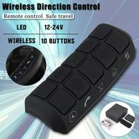 Audew Universal Durable LED Backlight Wireless Remote Control Car Steering Wheel 10 Button Remote Control Car