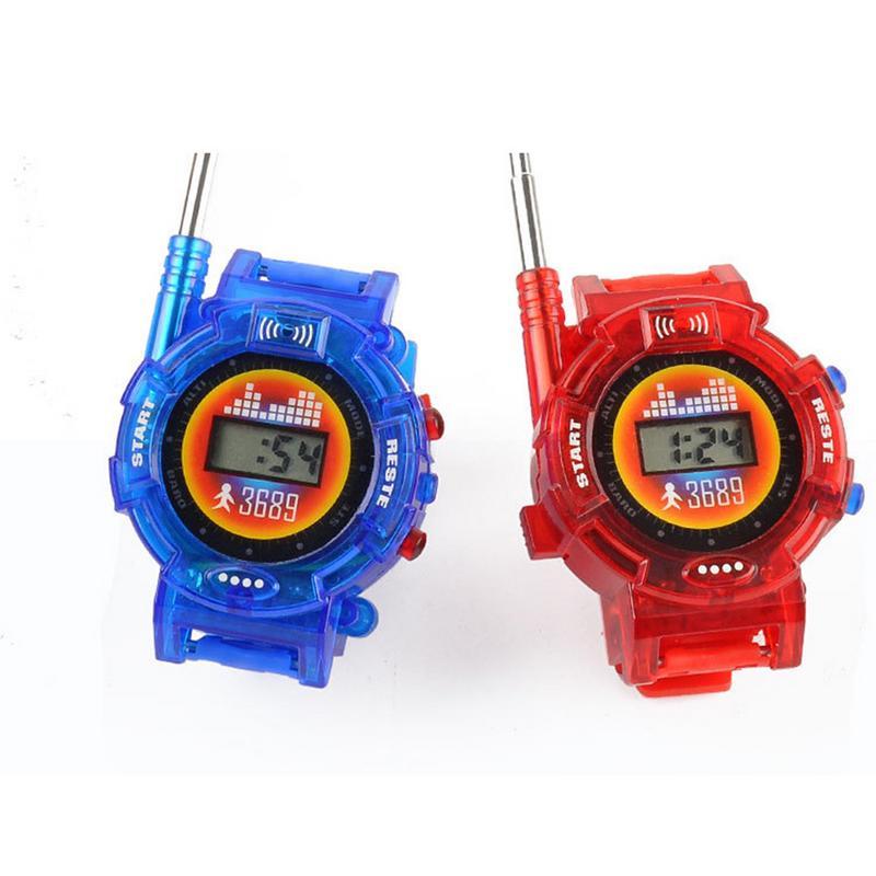 2PCS Hot Selling Way Radio Walkie Talkie Kids Spy Wrist Watch Gadget Toy Interphone Toy Portable Mini Watches Interactive Toy