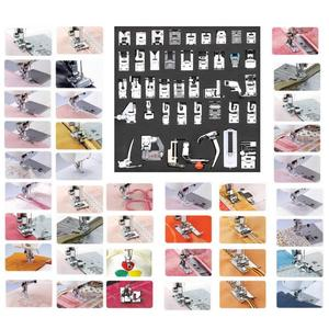 Image 2 - 42pcs Multifunctional Sewing Machine Presser Foot Feet for Brother Singer Janome Presser Feet Braiding Blind Sewing Accessories