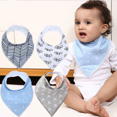 2018 Newest Newborn Baby Black White Dress Style Cotton Food Feeding Bib Y