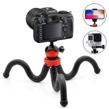 Flexible Ball Head Tripod for iPhone, Android Phone, GoPro, DSLR Camera and More, Included Universal Smartphone Clamp and Go P(China)