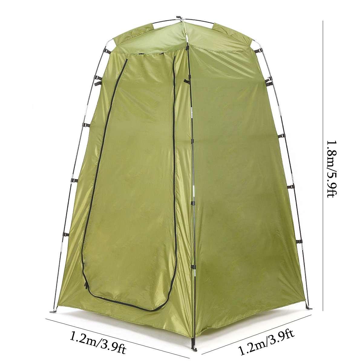 1.2x1.2x1.8 m En Plein Air Portable Confidentialité de Toilette Douche Tente Étanche Camping tentes Changement Salle De Bains Soleil Abri Pop up Tente