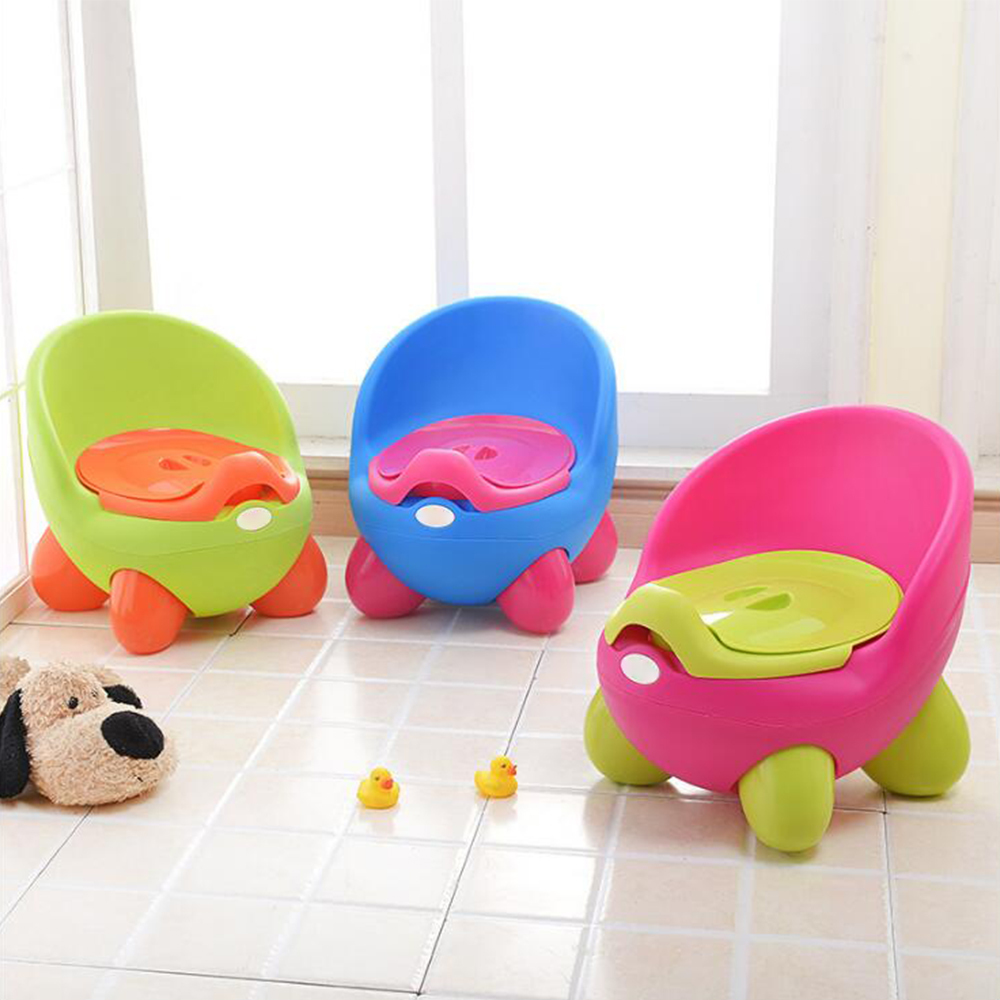 Cartoon Portable Potty Baby Accessories Toilet Stool Baby Seat Kids Training Potty Chair Cute Plastic Urinal Pot For Children