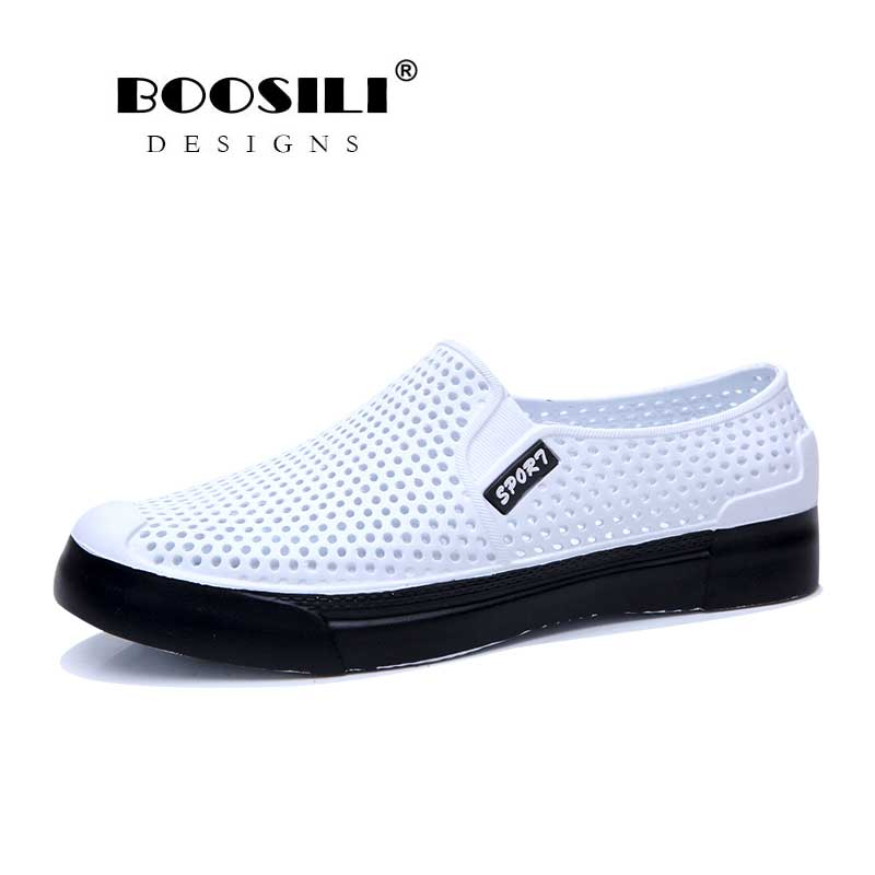 2020 Real Mens Leather Sandal Men's Cave Shoes Double Color Garden High Quality Breathable Clogs Lightweight 4 Colours