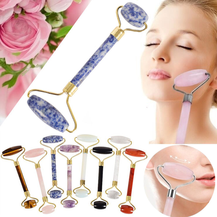 Natural Quartz Jade Facial Massage Roller for Face Body Slimming Anti Cellulite Health Care Tools Anti Wrinkle Face Beauty Tool