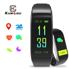 купить Fitness Bracelet KR02 IP68 Waterproof GPS Smart Band Heart Rate Monitor Watch Activity Tracker for Xiao Mi Android IOS Phone по цене 1606.39 рублей