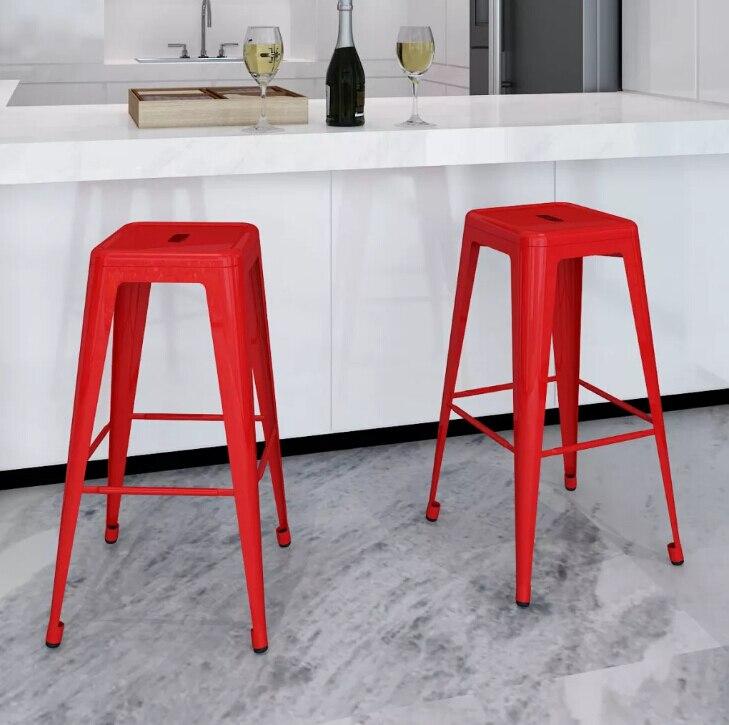 VidaXL tabouret de Bar en métal de qualité réglable Simple chaise de Bar haute chaise de Bar de réception chaise de café de salle à manger moderne chaise de loisirs en fer