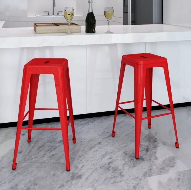 vidaXL Adjustable Quality Metal bar stool high stool bar chair front desk bar Coffee chair