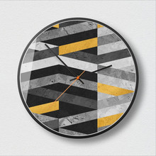 New Wall Clocks 3D Extremely Simple Color Geometry Large Size Silent Movement Modern Minimalist Clock For Home