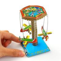 Заводные игрушки, Подарочная ярмарочная карусель, самолеты, механические жестяные игрушки, бесплатная доставка