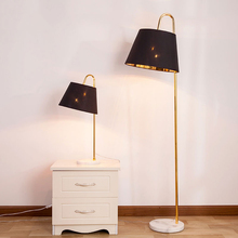 Modern Floor Lamp Led Cloth Lampshade Standing Lamp Living Room Floor Lamp Bedroom Bedside Decorate Stand Light Fixtures