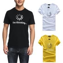 2019 Summer Men T-shirt Im Thinking Letters Fashion Printing Short Sleeve Trend Casual sleeve Tshirt Tops tee
