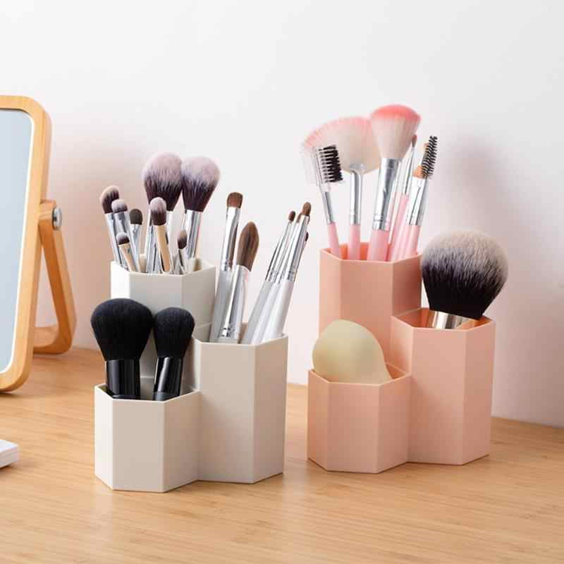 Cosmetic Box Table organizer Makeup Cosmetic Holder Make Up Tools Storage Boxes Brush Case Jewelry Display Rack  4.99