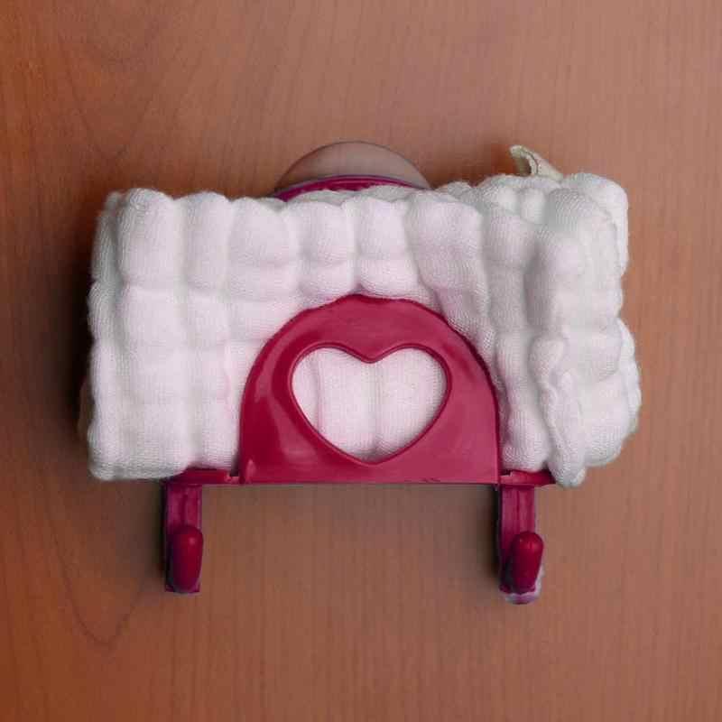 1Pc łazienka uchwyt kuchnia zlew danie gąbka na ręczniki ręcznik kąpielowy Rack mydło przyssawka półka do przechowywania stojaki do przechowywania haki Sucker z haki
