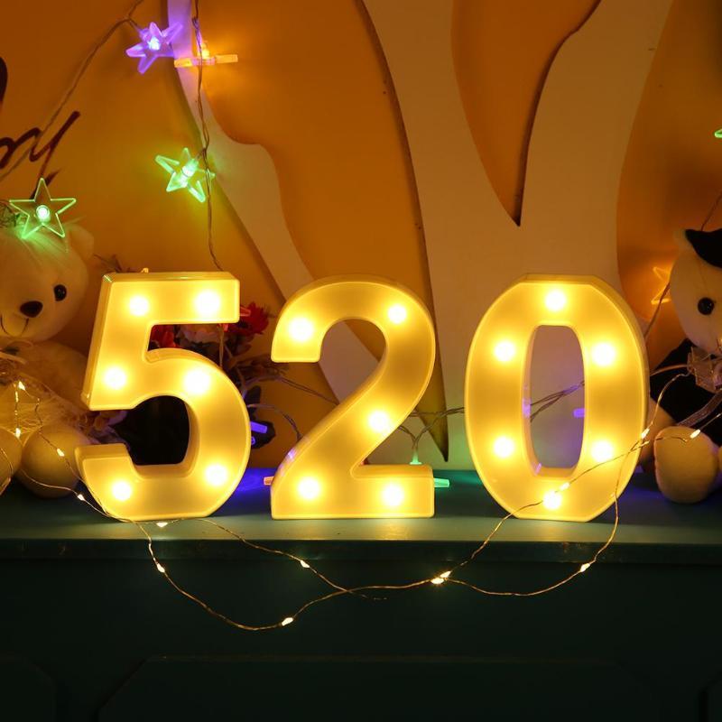 New LED 3D White Number LED Light Indoor Night Light