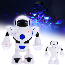 цена на 2019 New Electronic RC Robot Music Dancing Walking Flashing Lights Smart Electronic Pets For  Kids Toy Gift