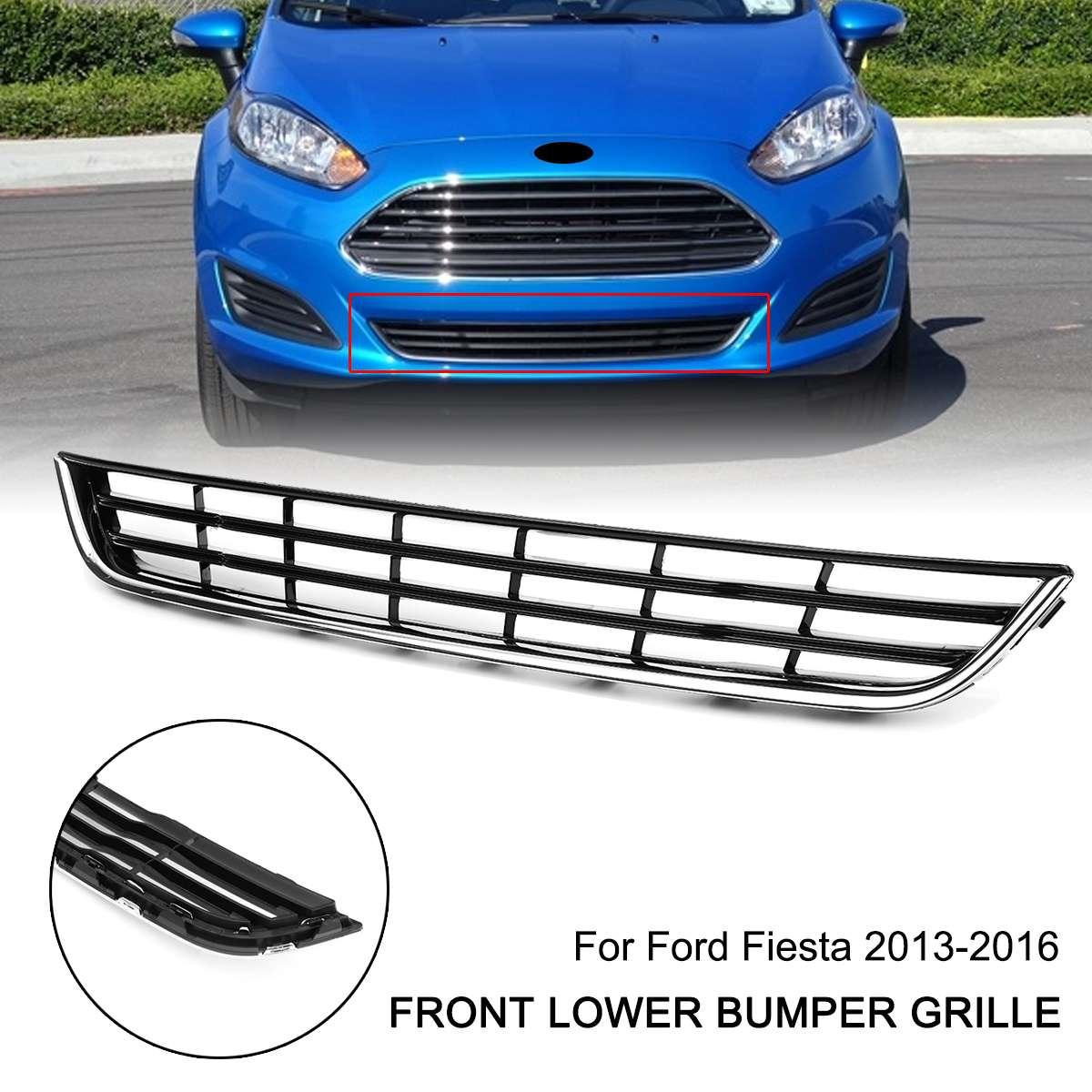 Calandre centrale de pare-chocs avant chromé pour Ford/Fiesta 2013-2016