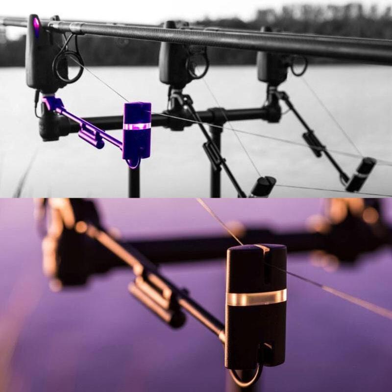 1pc Carp Fishing Alarm Swingers 7 Color LED Illuminated Bite Indicators Carp Fish Bite Alarm Swinger Hanger Fish Tackle Pesca
