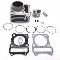 57mm Cylinder KIT & Flat Top Piston Set & Gasket All Sets For Suzuki GS125 GN125 125CC GS GN 125 EN125