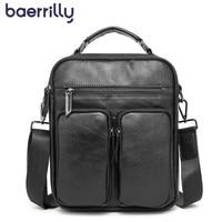 2019 New Mens Leather Briefcase Business Laptop Bag Messenger Bag Genuine Leather Briefcases Men Handbag Satchel Man Shoulder