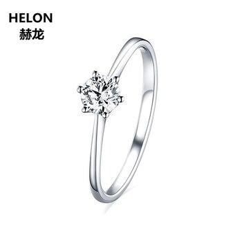 d41491c946ac 0.5ct céltico anillo sólido 14 K oro blanco redondo VVS F-G laboratorio  crecido