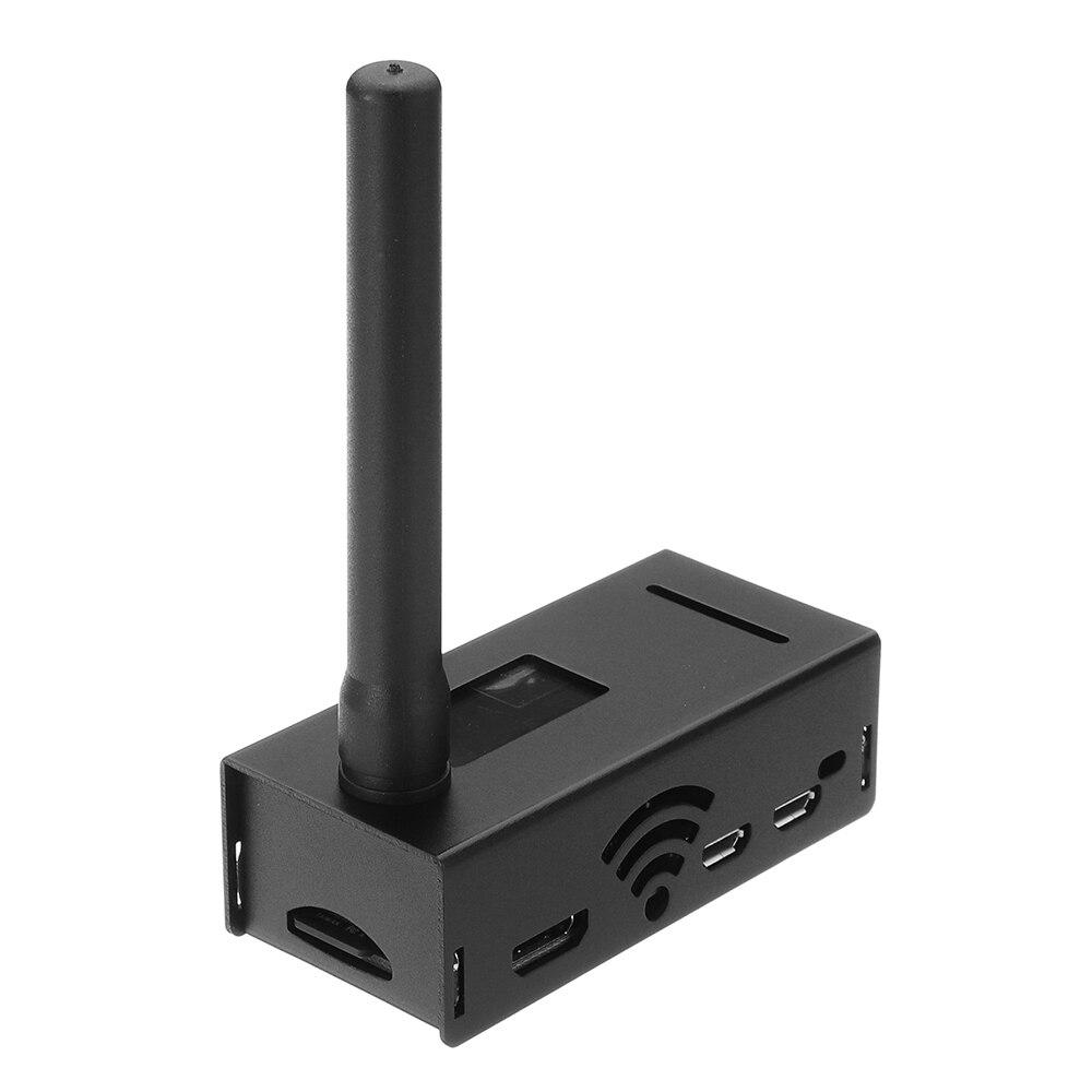 Support de carte de Hotspot MMDVM assemblé P25 DMR YSF pour Raspberry Pi Zero + écran OLED + antenne + étui de boîtier en aluminium