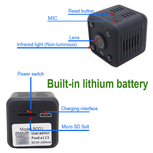 Image 3 - JIENUO 1080 P Mini WiFi Kamera Ip Kamera Batterie IpCam Cctv Wireless Security HD Überwachungs Micro Cam Nachtsicht Hause monitor