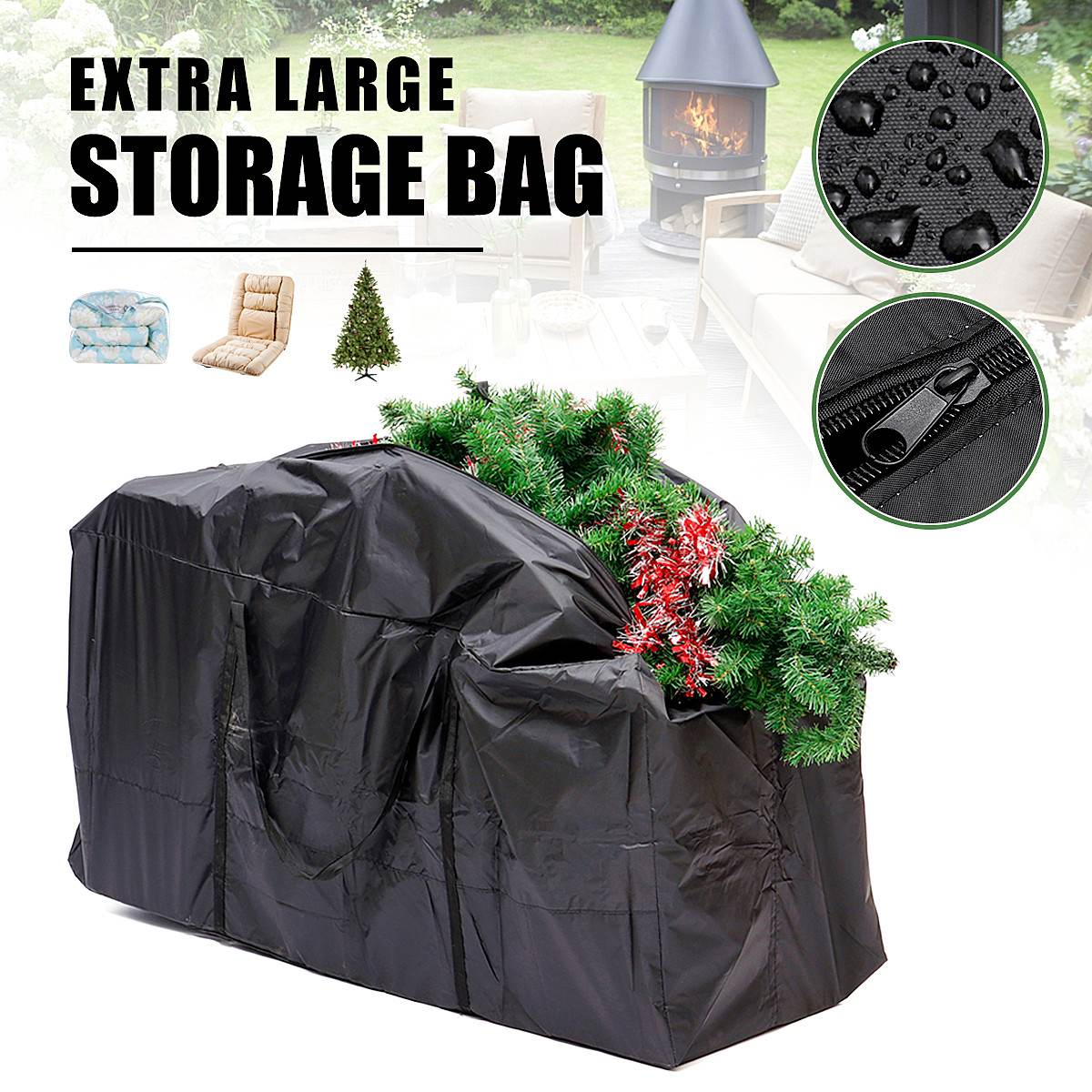 New Waterproof Outdoor Furniture Cushion Storage Bag