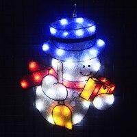 Oferta 2D Navidad muñeco de nieve motivo luz 20 5 pulg Alto 24V decoración de árbol de