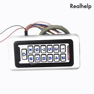 Image 5 - Clavier de contrôle daccès RFID, 2000 utilisateurs, en métal et acier inoxydable, étanche IP68, lecteur de cartes pour lextérieur, sécurité 12V/24V DC et AC