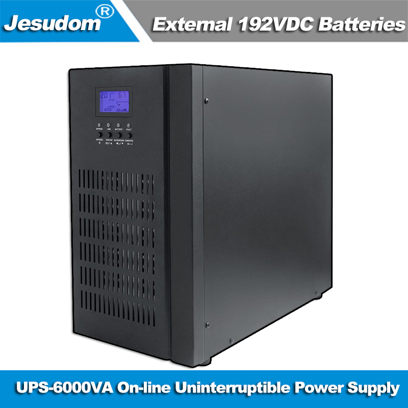 Uninterruptible Power Supply 6KVA UPS External 192V DC Batteries Bank to 220AC 50HZ Pure Sine Wave