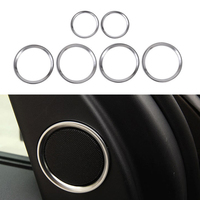 6pcs Decor Rings Side Speaker Grille Cover Ring Trim For Land Rover Discovery Sport 2015 18