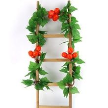 Simulation Fruit Rattan Ceiling Plants Decoration Vine Farmhouse Plant Leaves Fruits And Vegetables Flower