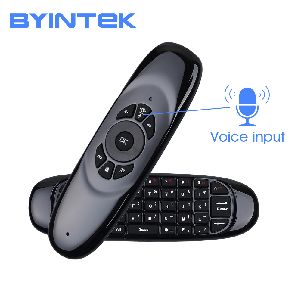 BYINTEK Android Projector Voice Air Mouse Remote For PC, For BYINTEK P9 P10 P12 R15 R19 R7 R9 U20 And BT96plus Android K20 Smart