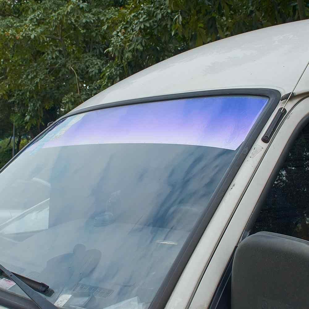 AUMOAHLL ด้านหน้ากระจก SOLAR Protection Gradient สีม่วงรถหน้าต่างฟอยล์ UV ป้องกัน