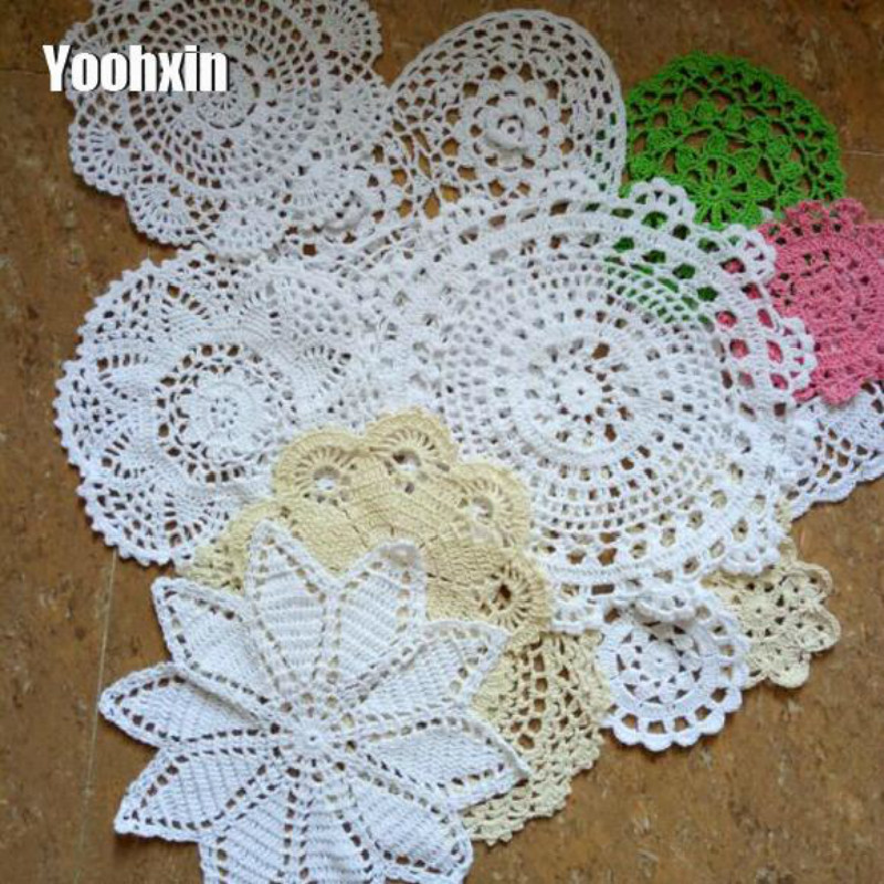 Home & Garden Table Decoration & Accessories Hot Lace Cotton Crochet Placemat Table Place Mat Cloth Drink Doily Cup Dish Coaster Mug Christmas Dining Pad Tea Coffee Kitchen