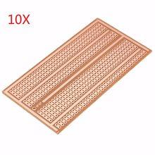 10 шт. 5x10 см DIY односторонний медный Прототип бумаги PCB Универсальный Эксперимент макетная плата 2-3-5 соединительное отверстие