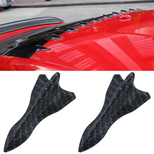 1pcs Carbon Car Shark Fin Antenna Rear Spoiler Wing Roof Antennas Tail Sticker Exterior Accessories