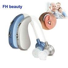 Taşınabilir Mini dijital şarj edilebilir işitme cihazı kulak yardımcıları yaşlılar için kablosuz ses amplifikatörleri uzun süre kullanım damla nakliye