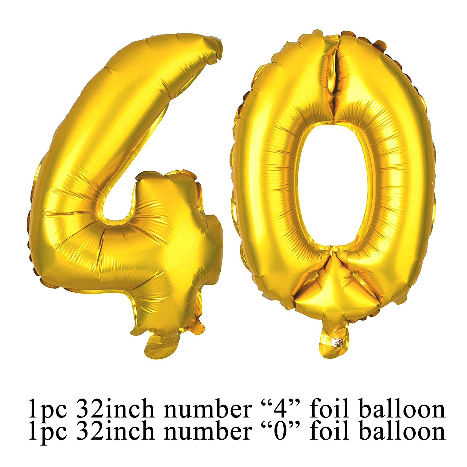 Amawill Happy 40th Birthday Banner 40 Table Scatter Foil Balloons Latex Globos Celebrate Anniversary Decorations 75D In Party DIY From