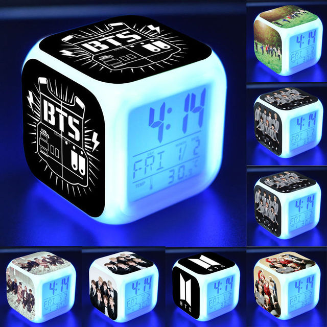 Cubic Digital Alarm Clock Night Light