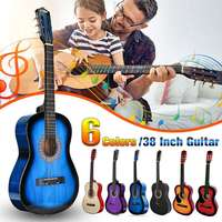 38 Beginners Acoustic Guitar with Guitar Case, Strap, Tuner&Pick Steel Strings Guitar Musical Instruments