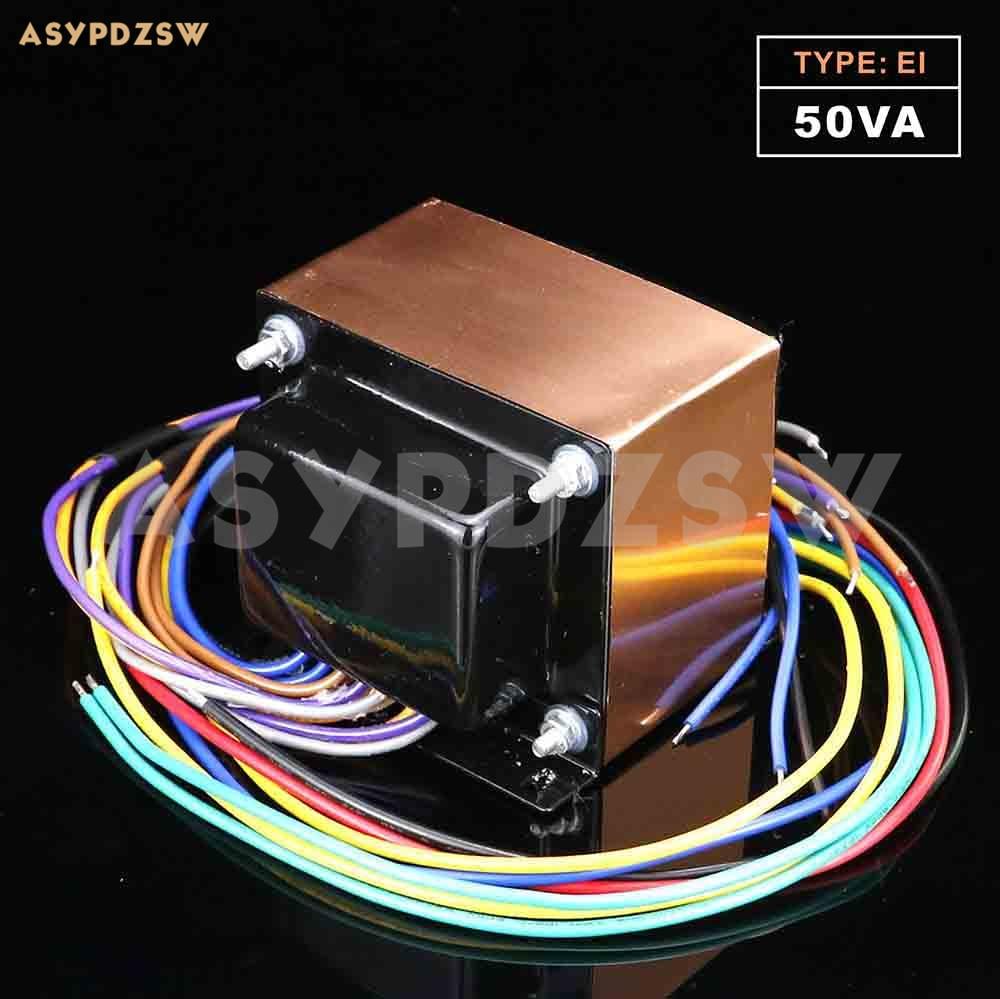 115V/230V OFC 50VA EI Type Transformer 280V*2+6.3V With Copper Foil Shield (Accept Custom)
