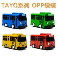 1 Pctayo Bus Kecil Korea Anime Oyuncak Model Mobil Mini Plastik Tarik Kembali Biru Hijau Kuning Merah Tayo Bus untuk Anak-anak Hadiah