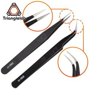 Image 1 - Trianglelab Gebogene/Gerade Port 3D Drucker Werkzeuge Edelstahl Pinzette Düse filament reinigung pinzette