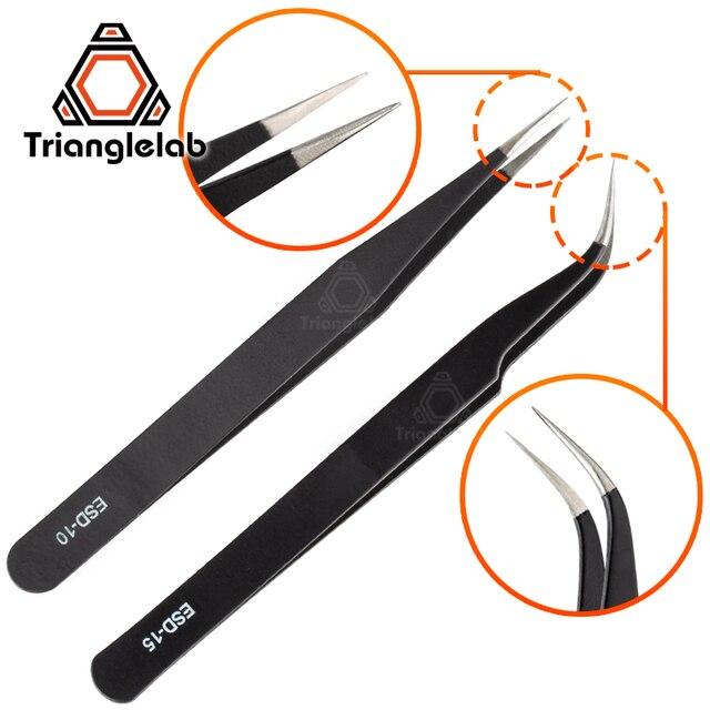 Trianglelab Gebogene/Gerade Port 3D Drucker Werkzeuge Edelstahl Pinzette Düse filament reinigung pinzette