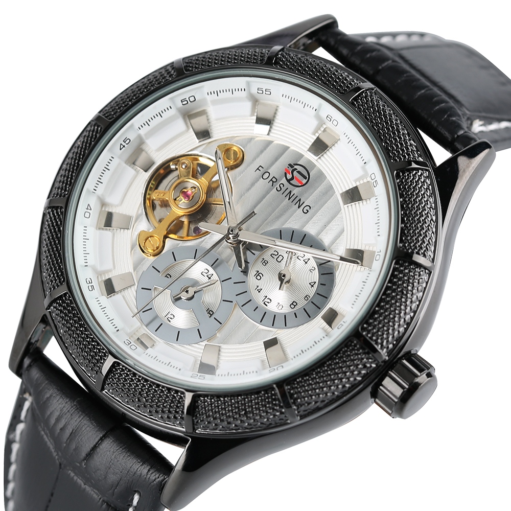 Mens Skeleton Watches Automatic Self-Wind Mechanical Luxury Wristwatch Leather Stainless Steel Case Business Watch Reloj HombreMens Skeleton Watches Automatic Self-Wind Mechanical Luxury Wristwatch Leather Stainless Steel Case Business Watch Reloj Hombre